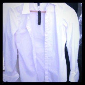 Banana Republic Riley white button down shirt 4